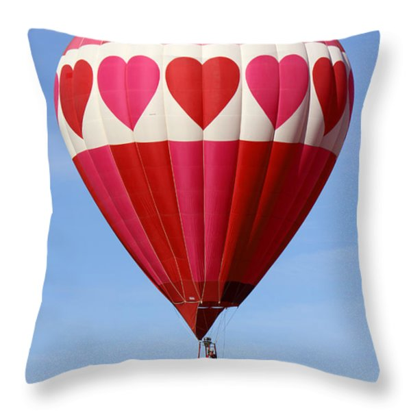 Love Is In The Air Throw Pillow by Mike McGlothlen