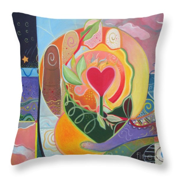 Love Is Love Throw Pillow by Helena Tiainen