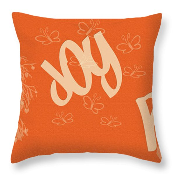 Love Joy Peace Throw Pillow by Nomad Art And  Design