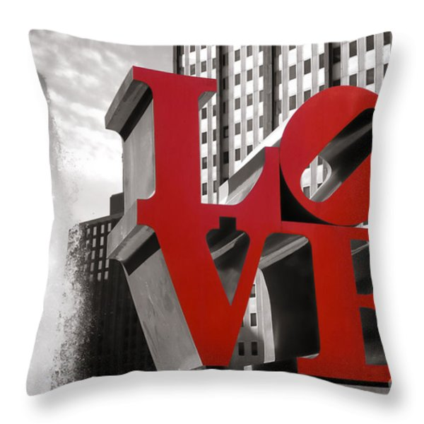 LOVE Throw Pillow by Olivier Le Queinec