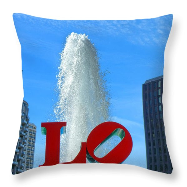 LOVE Park Throw Pillow by Olivier Le Queinec