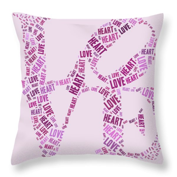 Love Quatro - Heart - s44b Throw Pillow by Variance Collections