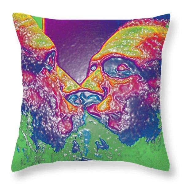 LOVE SELF EVIDENT aka Portrait of Flap Jack Stevens Throw Pillow by Feile Case