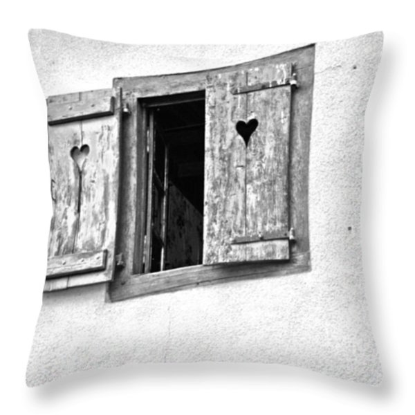 Love Shutters Throw Pillow by Nomad Art And  Design