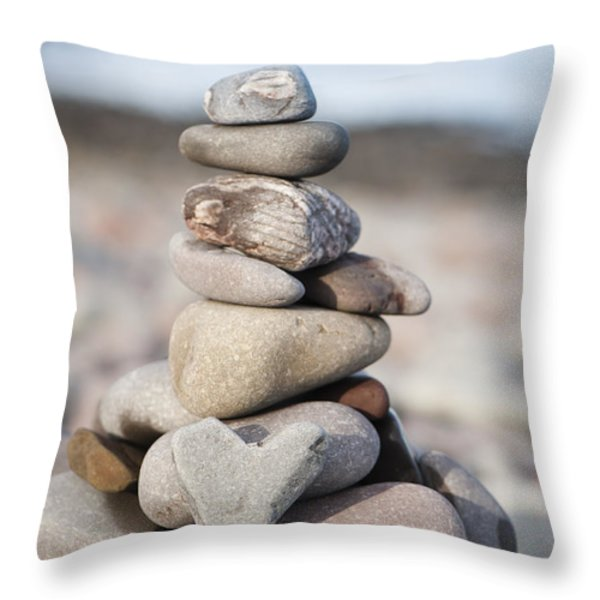 Love Stack Throw Pillow by Anne Gilbert