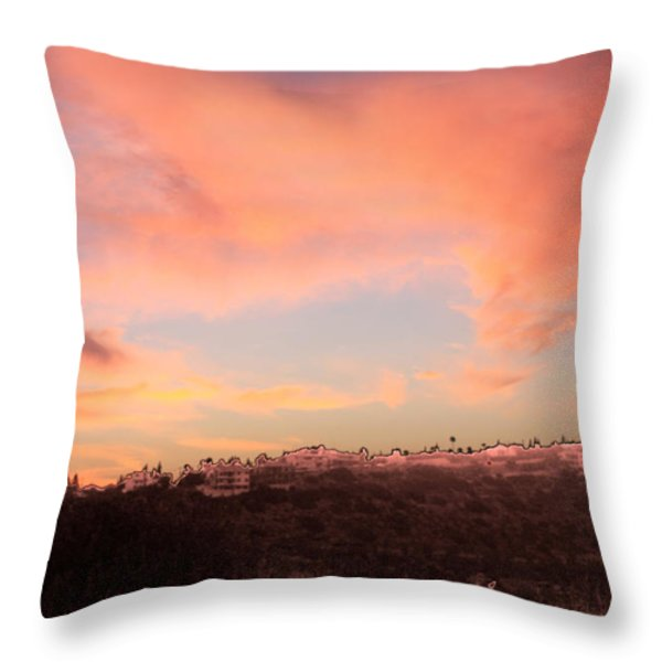 Love Sunset Throw Pillow by Augusta Stylianou