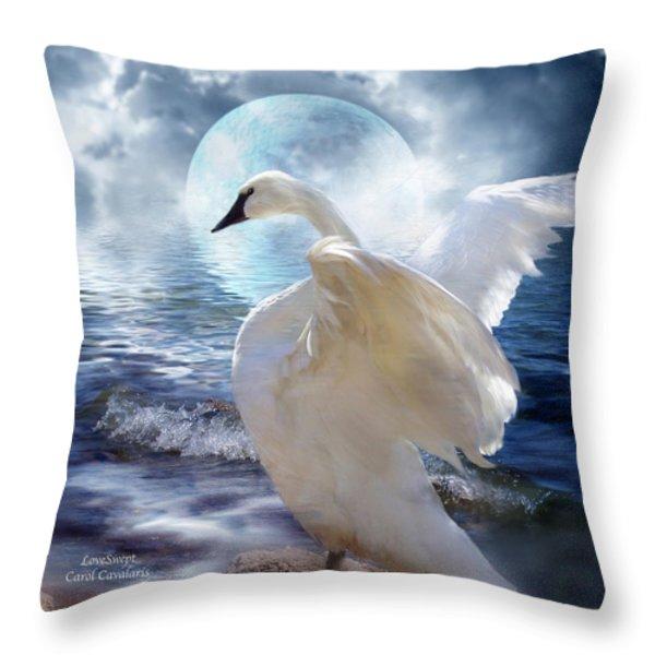 Love Swept Throw Pillow by Carol Cavalaris