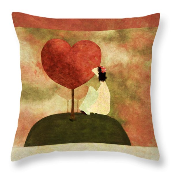 Love Tree -01b Throw Pillow by Variance Collections