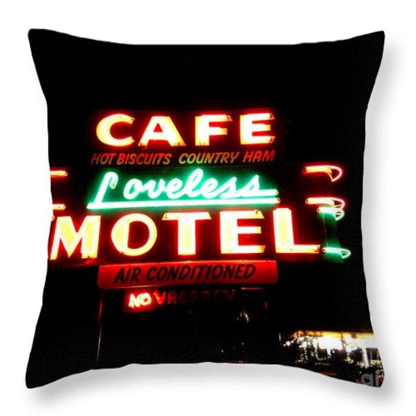 Loveless Cafe Throw Pillow by Linda Woods