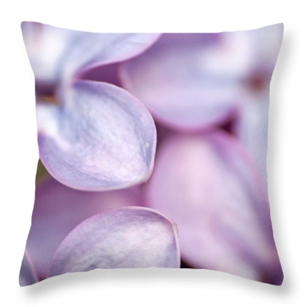 Lovely Lilacs Throw Pillow by Peggy Collins