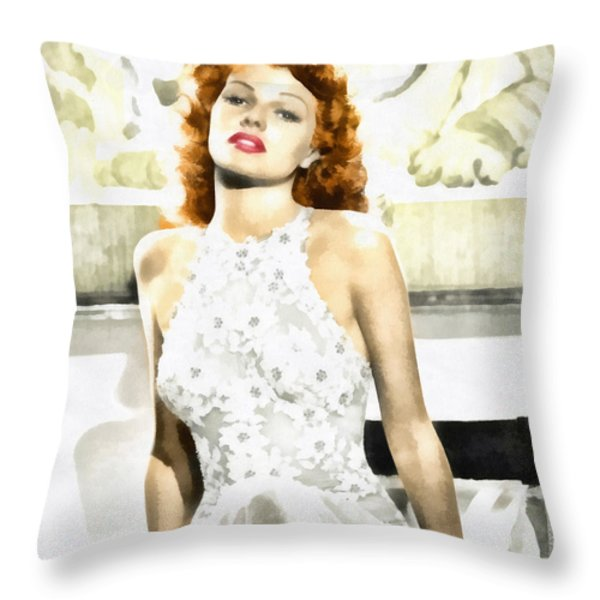 Lovely Rita Throw Pillow by Mo T
