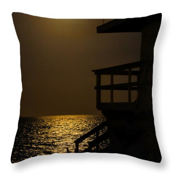 Lovers Moon Throw Pillow by Rene Triay Photography