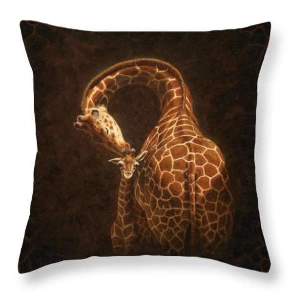 Love's Golden Touch Throw Pillow by Crista Forest
