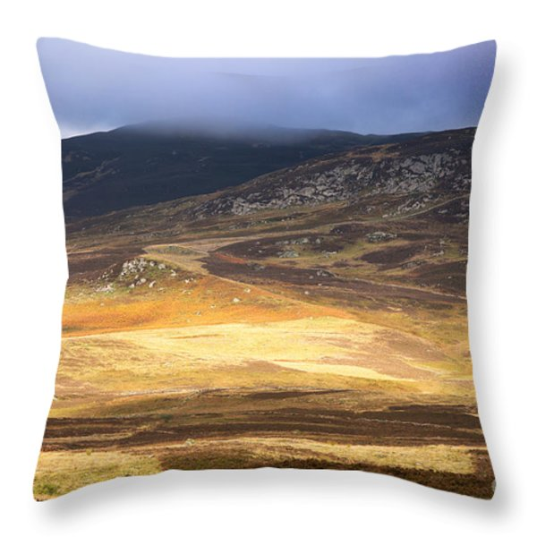 Low cloud over Highlands Throw Pillow by Jane Rix