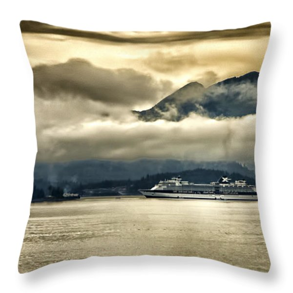 Low Clouds - Half Speed Throw Pillow by Jon Berghoff