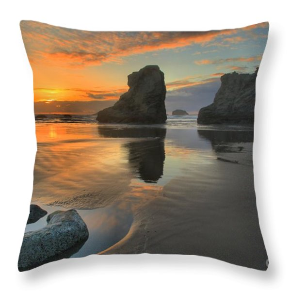 Low Tide Giants Throw Pillow by Adam Jewell