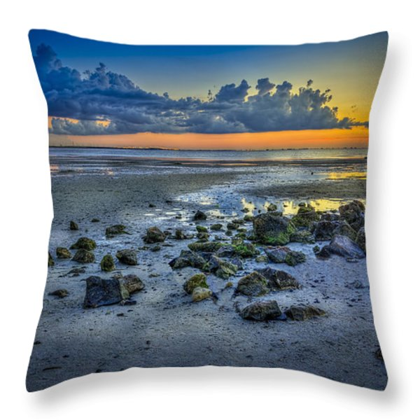 Low Tide on the Bay Throw Pillow by Marvin Spates
