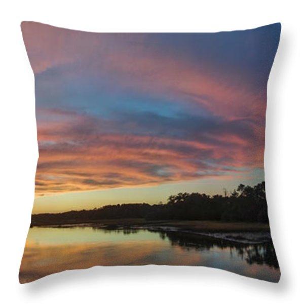 Lowcountry Sunset Charleston Sc Throw Pillow by Dustin K Ryan