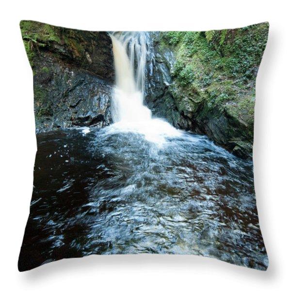 Lower fall Puck's Glen Throw Pillow by Gary Eason