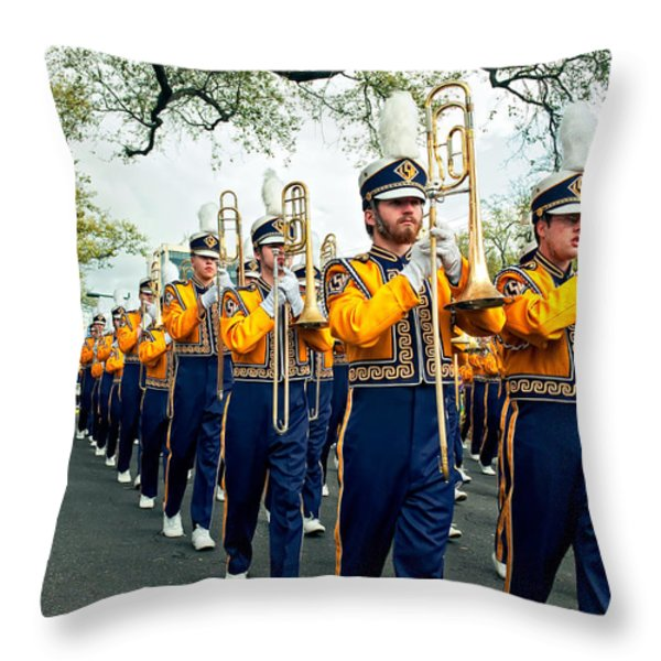 Lsu Marching Band 3 Throw Pillow by Steve Harrington