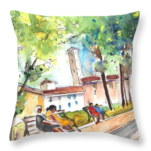 Lucca In Italy 03 Throw Pillow by Miki De Goodaboom