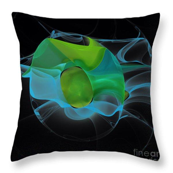 Lucid Mint Throw Pillow by Hanza Turgul