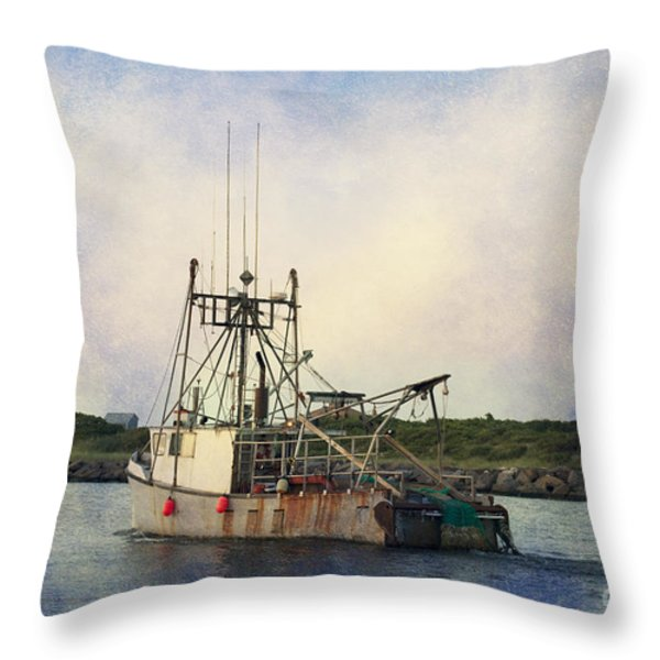 Lucky Catch Throw Pillow by A New Focus Photography