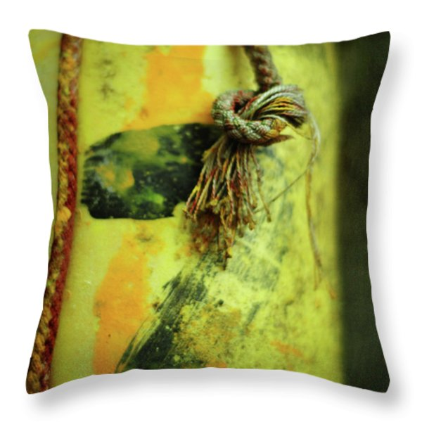 Lucky Number Seven Throw Pillow by Rebecca Sherman