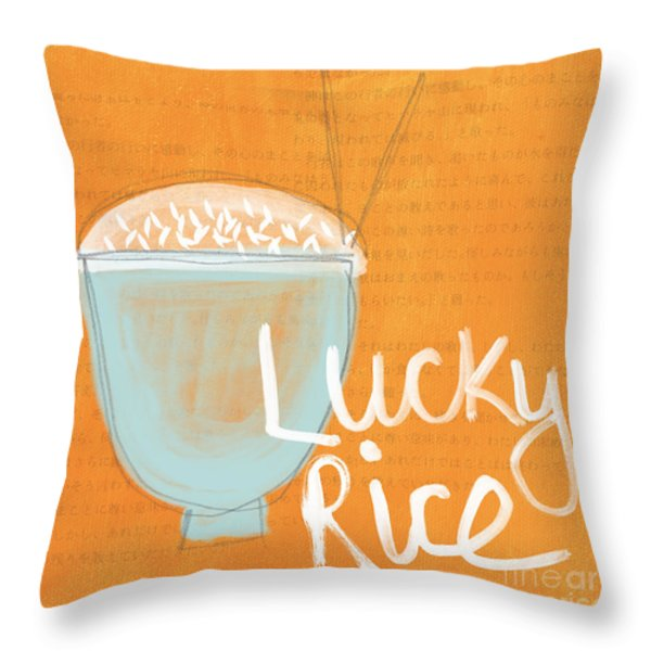 Lucky Rice Throw Pillow by Linda Woods