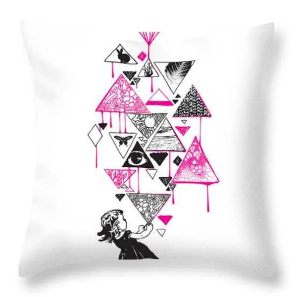 Lucy in the sky Throw Pillow by Budi Satria Kwan