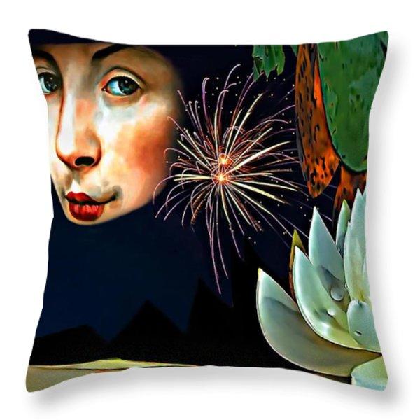 Lucy In The Sky With Diamonds 2    Throw Pillow by Steve Harrington