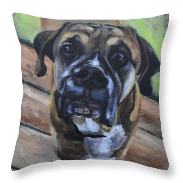 Lugnut Throw Pillow by Donna Tuten
