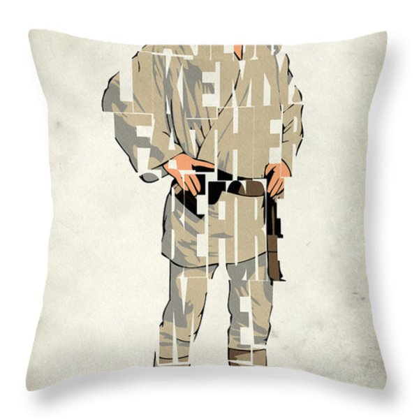 Luke Skywalker - Mark Hamill  Throw Pillow by Ayse Deniz