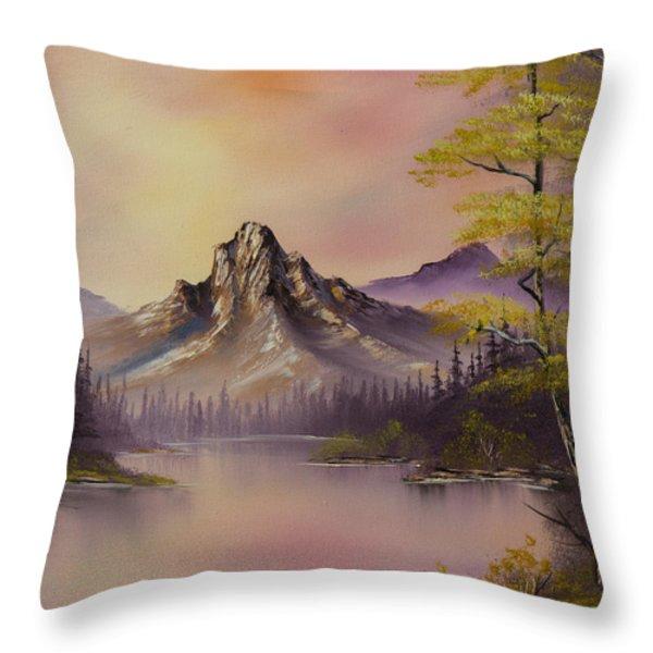 Luminous Lake Throw Pillow by C Steele