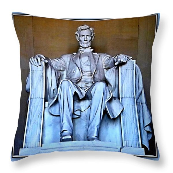 Luminous President Lincoln Throw Pillow by Danielle  Parent
