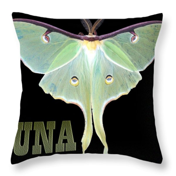LUNA 1 Throw Pillow by Mim White