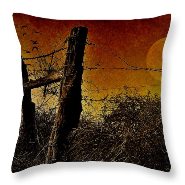 Luna de Sangre Throw Pillow by Karen Slagle