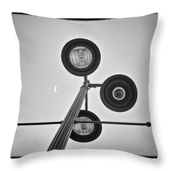 Lunar Lamp - Art Unexpected Throw Pillow by Tom Mc Nemar
