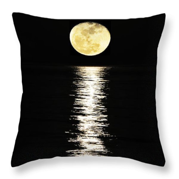 Lunar Lane Throw Pillow by Al Powell Photography USA