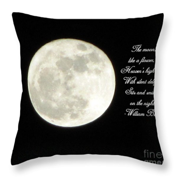Lunar Verse Throw Pillow by Avis  Noelle
