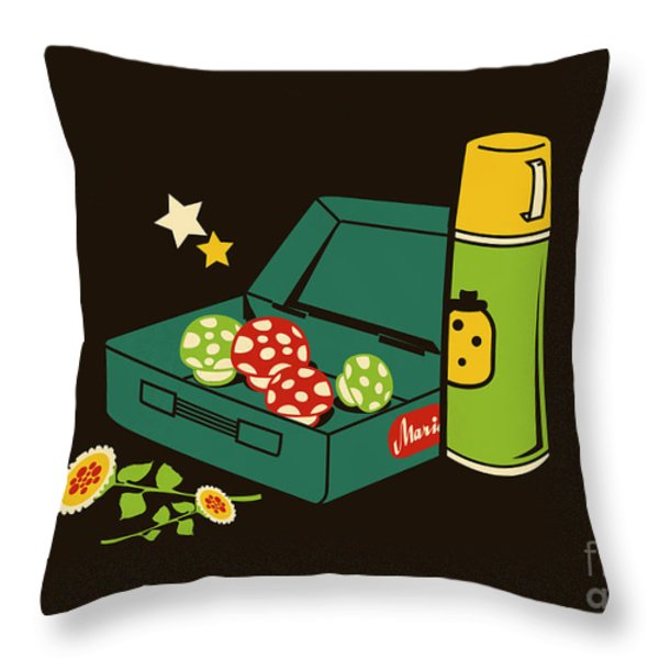 Lunch for all Throw Pillow by Budi Satria Kwan