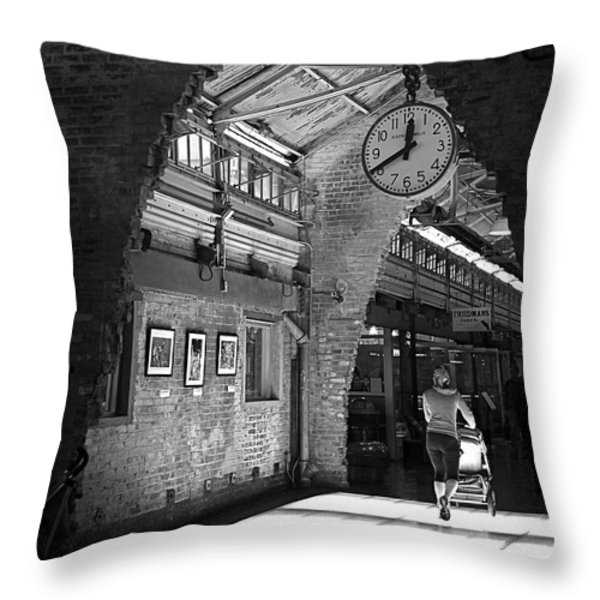 Lunchtime at Chelsea Market Throw Pillow by Rona Black