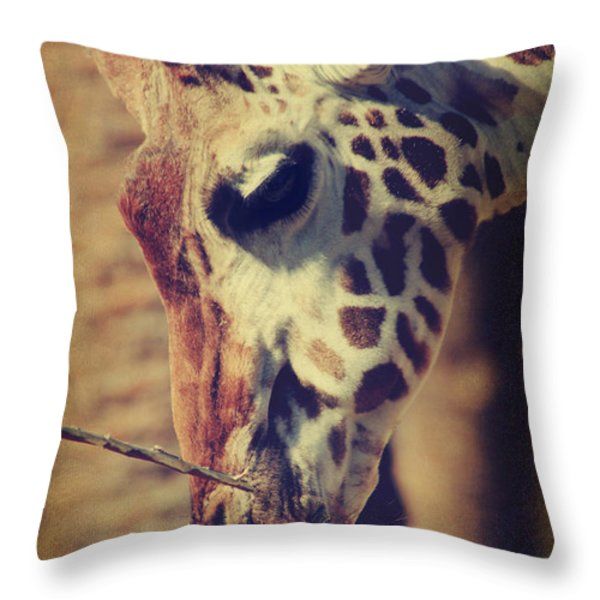 Lunchtime Twigs Throw Pillow by Laurie Search