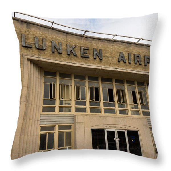 Lunken Airport in Cincinnati Ohio Throw Pillow by Paul Velgos