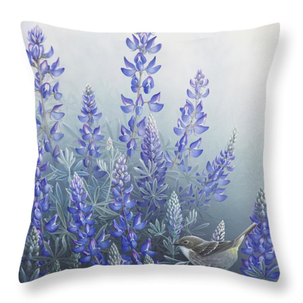 Lupine Throw Pillow by Mike Stinnett