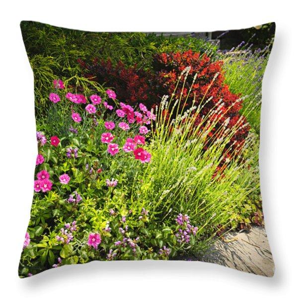 Lush garden Throw Pillow by Elena Elisseeva
