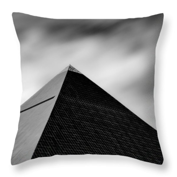 Luxor Pyramid Throw Pillow by Dave Bowman