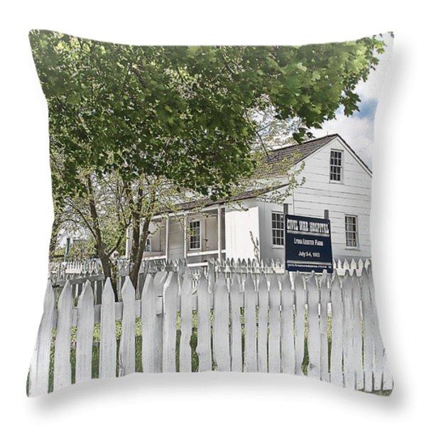 Lydia Leister Farm - Civil War Hospital Throw Pillow by Dyle   Warren