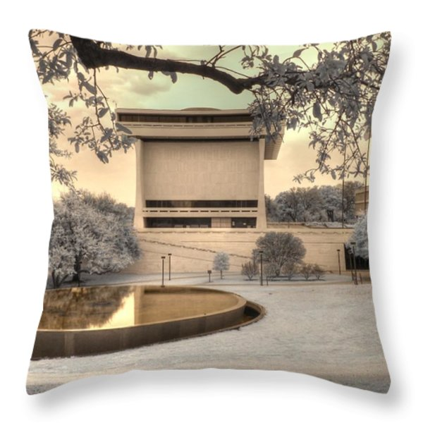 Lyndon B Johnson Presidential Library Throw Pillow by Jane Linders