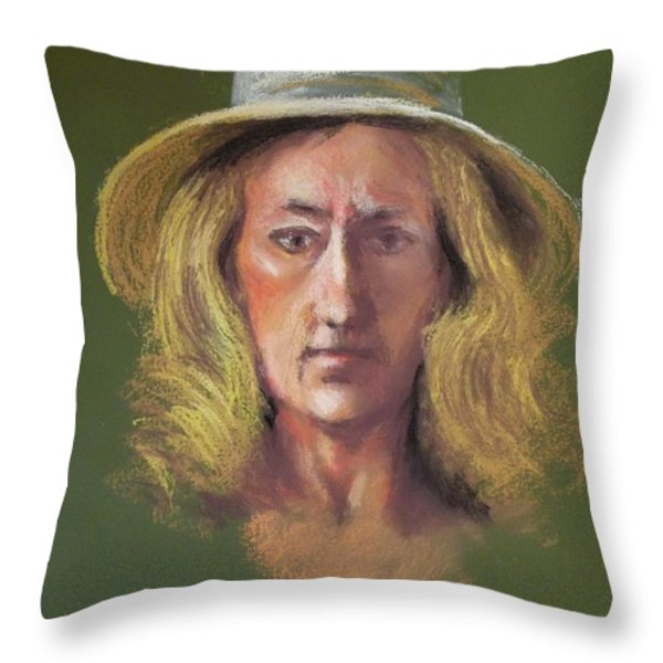 Lynn Throw Pillow by Yoshiko Mishina
